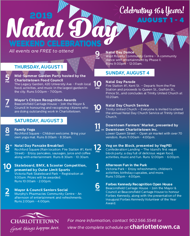 Natal Day Weekend Celebration